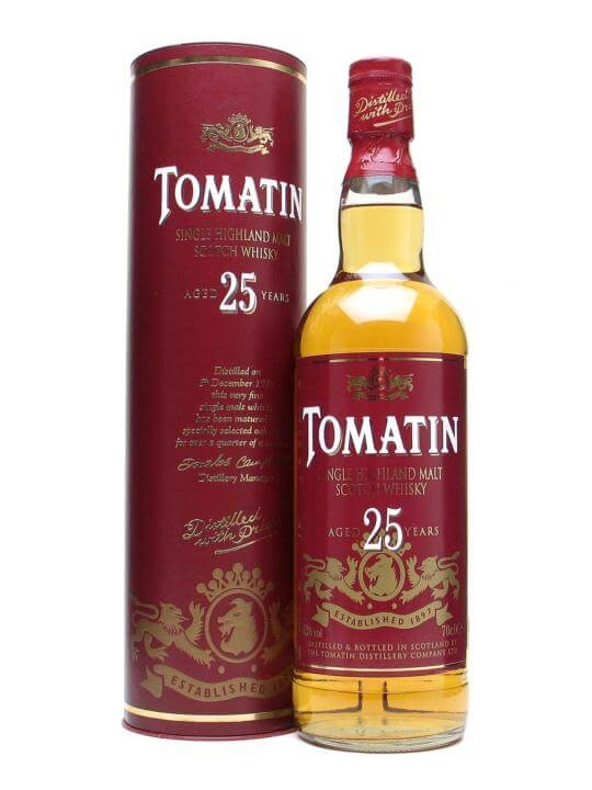 Tomatin 25 Year Old Speyside Single Malt Scotch Whisky