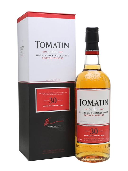 Tomatin 30 Year Old Speyside Single Malt Scotch Whisky