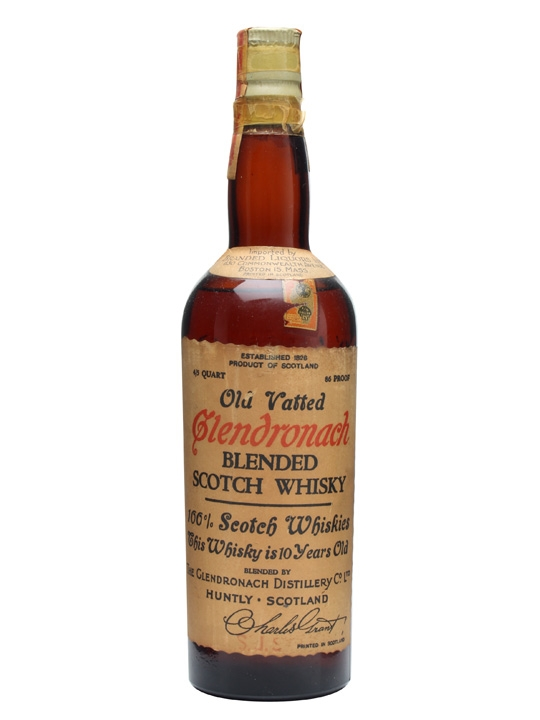 Old Vatted Glendronach 10 Year Old Blended Malt Whisky