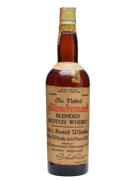 Old Vatted Glendronach 10 Year Old Blended Malt Whisky