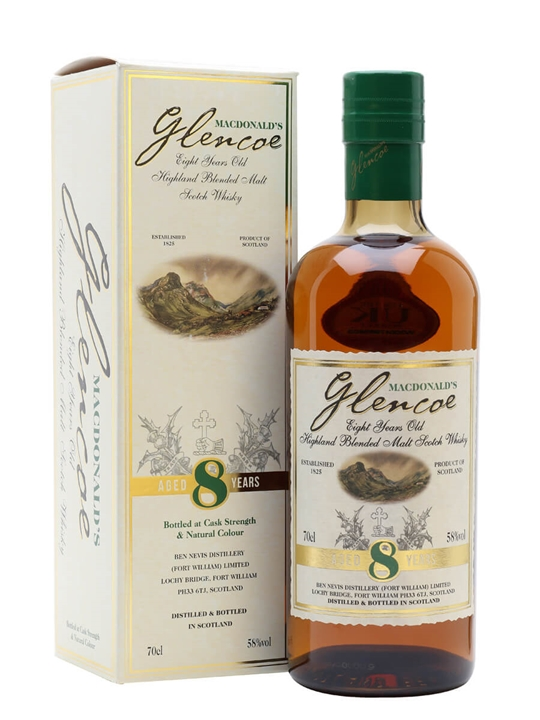 Macdonald's Glencoe 8 Year Old Blended Scotch Malt Whisky