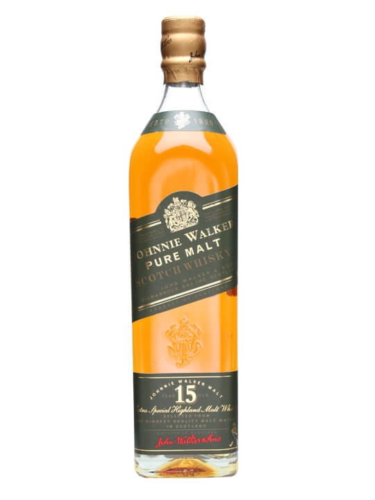 Johnnie Walker 15 Year Old Green Label / Pure Malt Blended Whisky