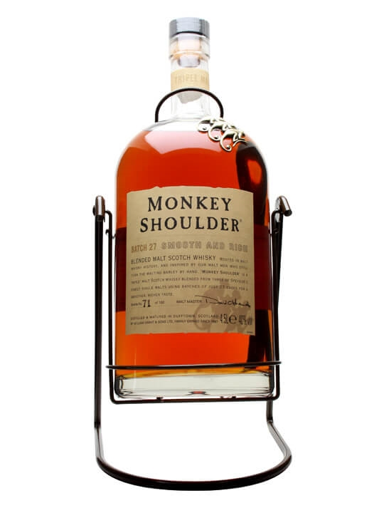 Monkey Shoulder 'Gorilla' plus Cradle / Large Bottle Blended Whisky