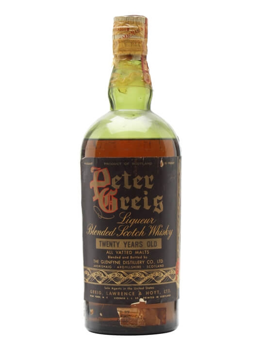 Peter Greig 20 Year Old / Glenfyne / Bot.1940s Blended Whisky