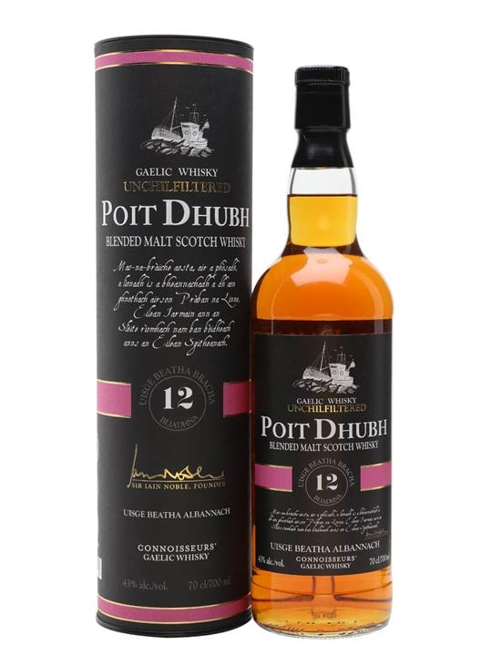Poit Dhubh 12 Year Old Blended Malt Scotch Whisky