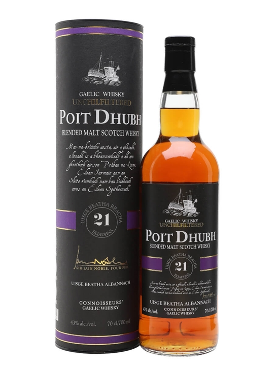 Poit Dhubh 21 Year Old / Unchill-filtered Blended Malt Scotch Whisky