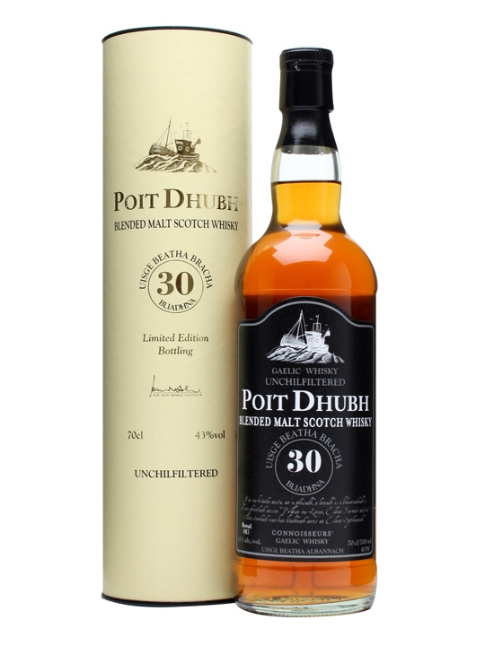 Poit Dhubh 30 Year Old / Unchill-filtered Blended Malt Scotch Whisky