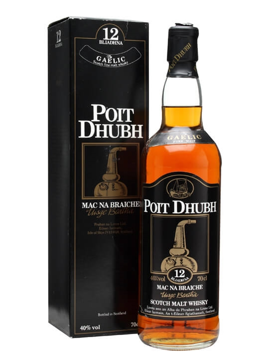 Poit Dhubh 12 Year Old / Old Presentation Blended Malt Scotch Whisky