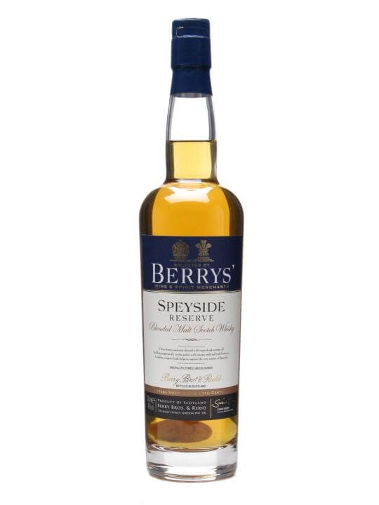 Berrys' Speyside Reserve Blended Malt Scotch Whisky