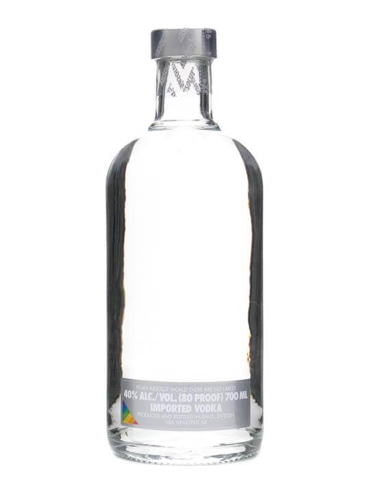 Absolut No Label Vodka