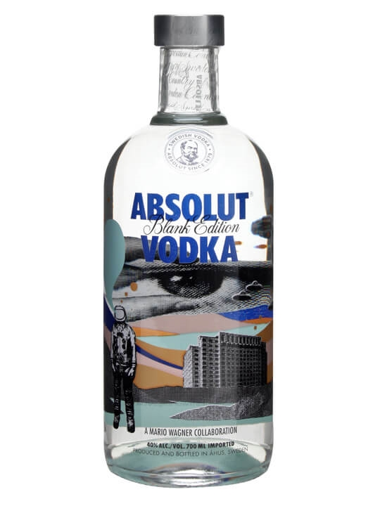 Absolut Blank Edition Vodka / Mario Wagner