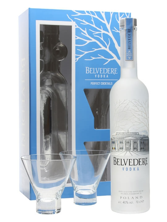 Belvedere Vodka Perfect Cocktails Set / 2 Cocktail Glasses