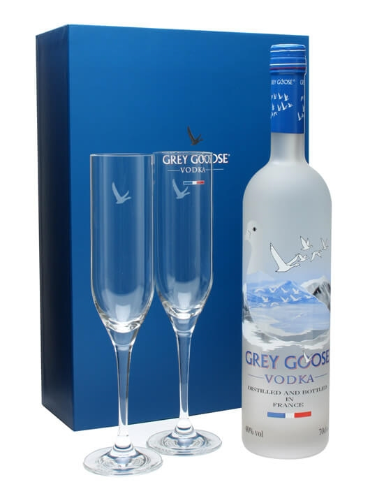 Grey Goose Vodka 2 Flutes Glass Pack