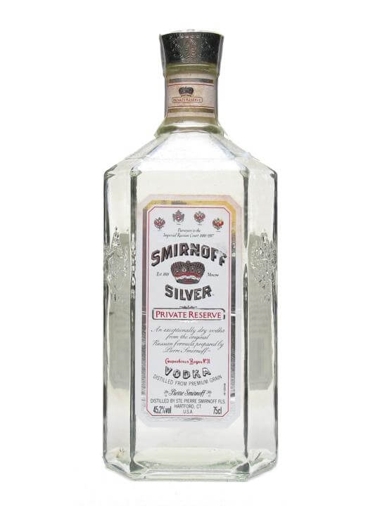 Smirnoff Silver Private Reserve Vodka / Bot.1970s