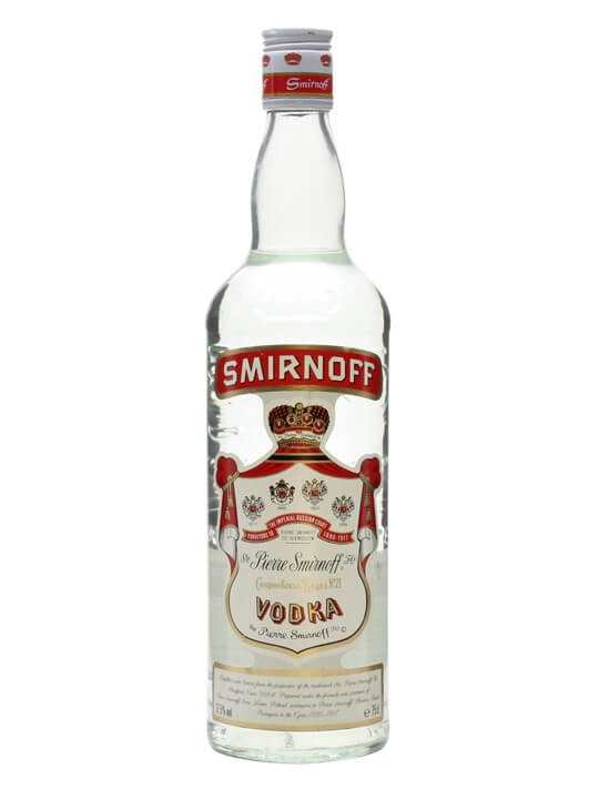 Smirnoff Red Label Vodka / Bot.1980s