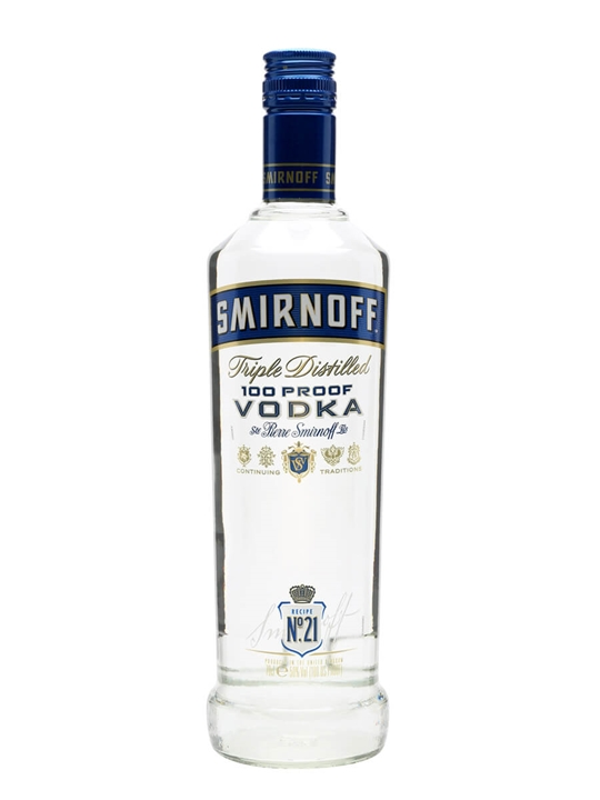 Smirnoff Blue Export Strength Vodka