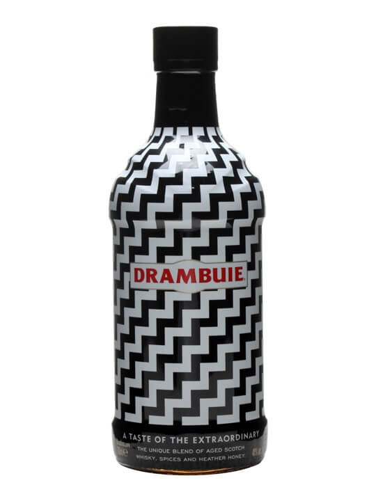 Drambuie Whisky Liqueur  Black & White Bottle
