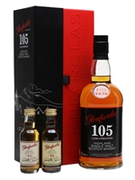 Glenfarclas 105 Gift Set Pack with 2 Miniatures  |  15 Year Old & 21 Year Old