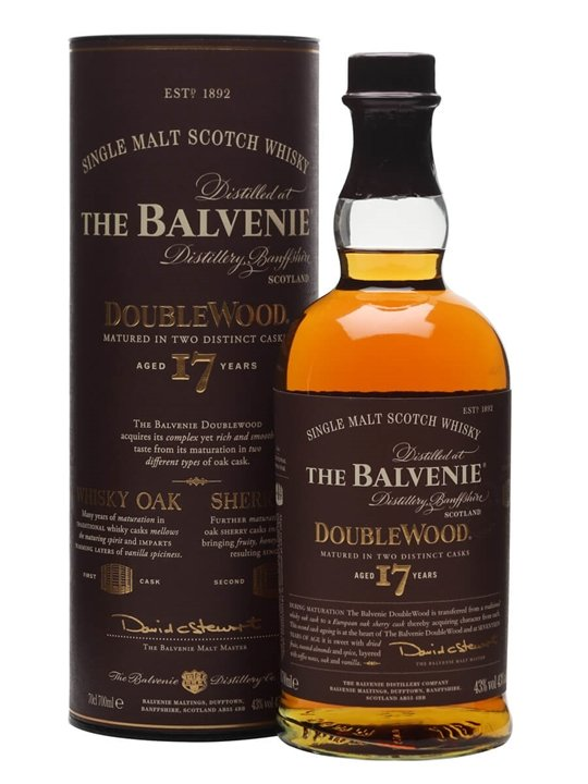 Balvenie single malt whiskey