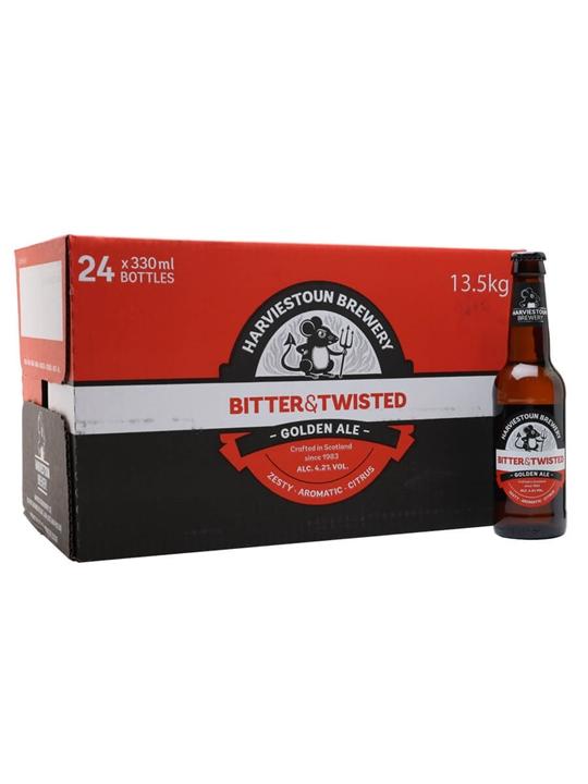 Harviestoun Bitter & Twisted Beer / Case of 24 Bottles