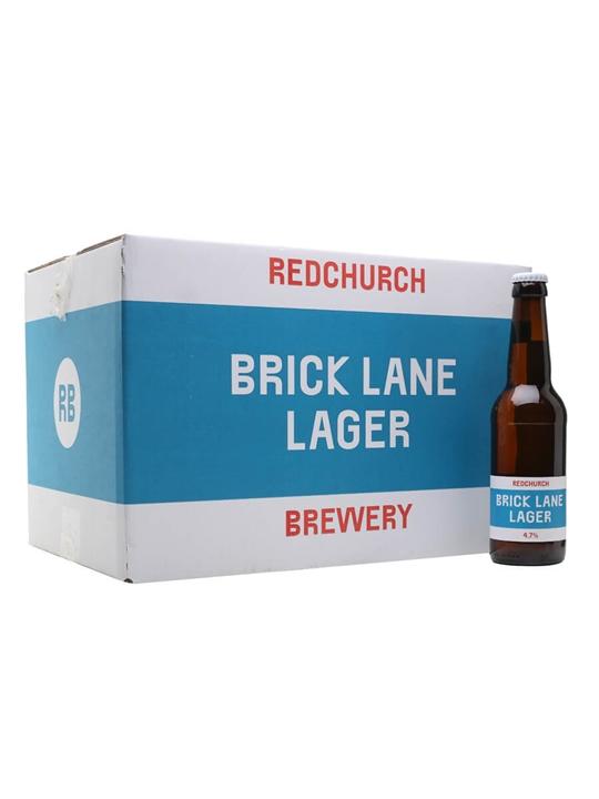 Redchurch Brewery Brick Lane Lager / Case of 24 Bottles