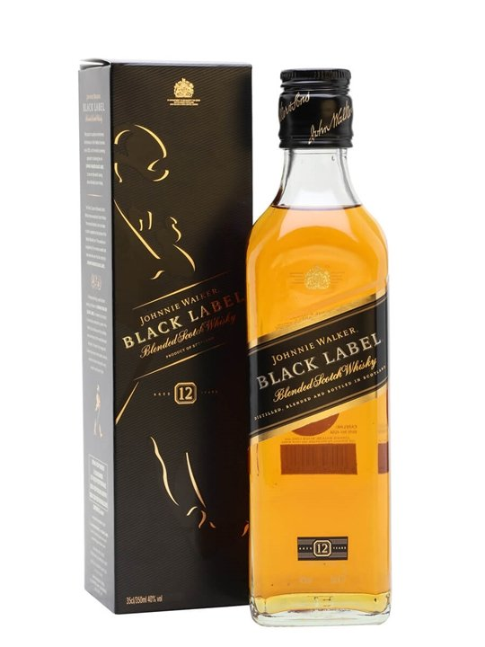 Johnnie Walker Black 12 Year Old / Half Bottle