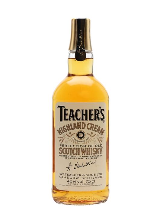 Teacher S Highland Cream Bot 1980s The Whisky Exchange