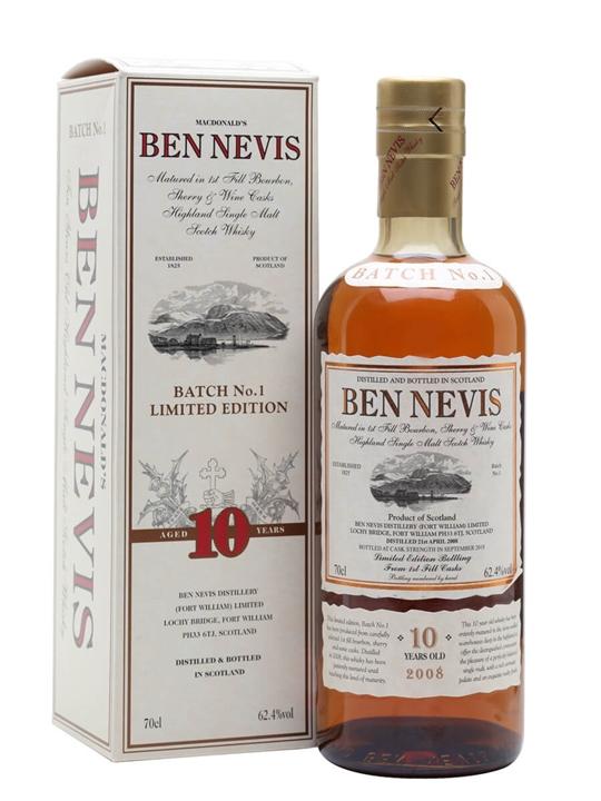 Ben Nevis 10 Year Old Cask Strength / Batch No.1