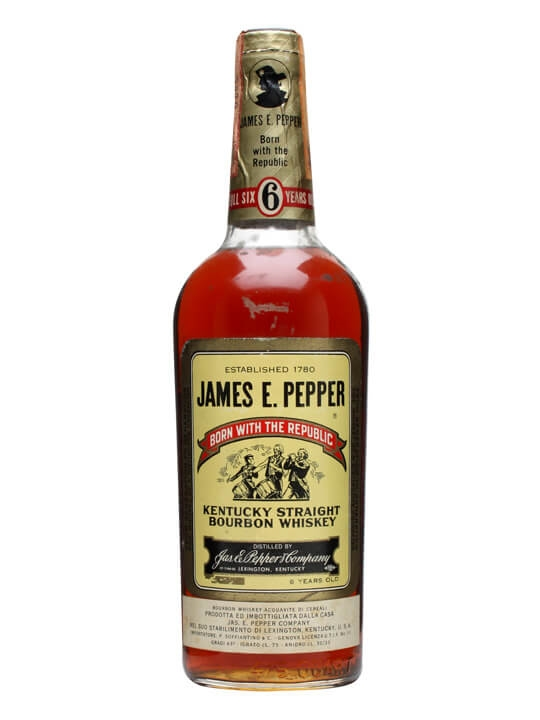 James E Pepper 6 Year Old Bourbon Bot 1970s The Whisky