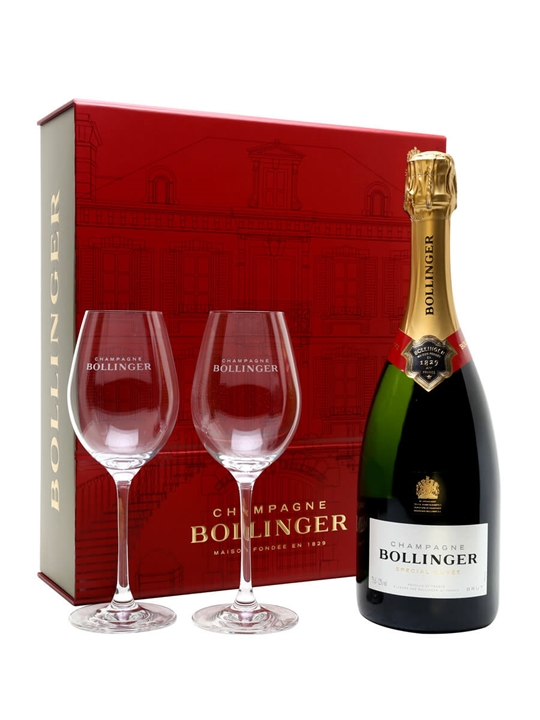 Bollinger Special Cuvee NV Champagne + 2 Glasses Pack