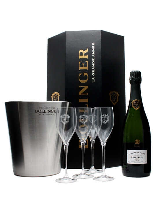 Bollinger 2000 Champagne - La Grand Annee - Octagon Gift Set : The Whisky Exchange