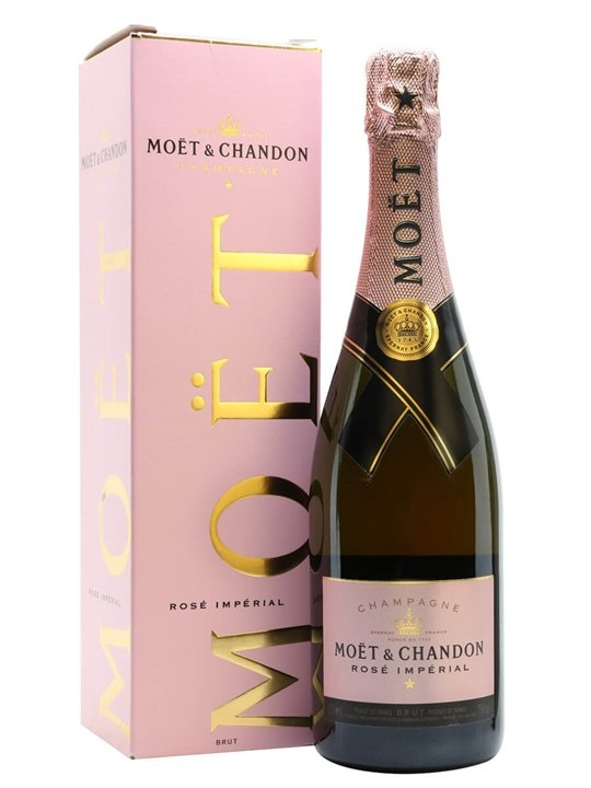 Moet Chandon Rose Imperial Nv Champagne Gift Box