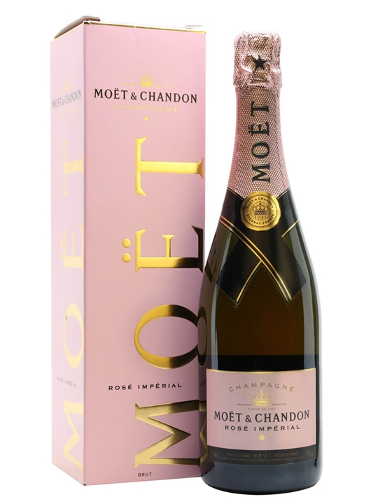 Moet & Chandon Rose Imperial NV Champagne - Gift Box : The Whisky Exchange
