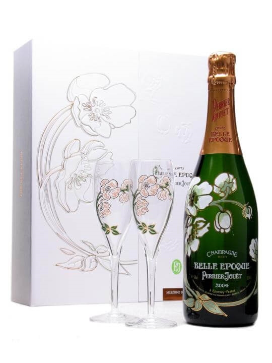 Perrier Jouet Belle Epoque 2004 Champagne Glass Pack : The Whisky ...