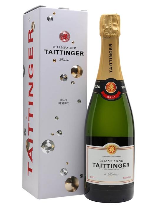 Taittinger Brut Reserve Champagne / Gift Box