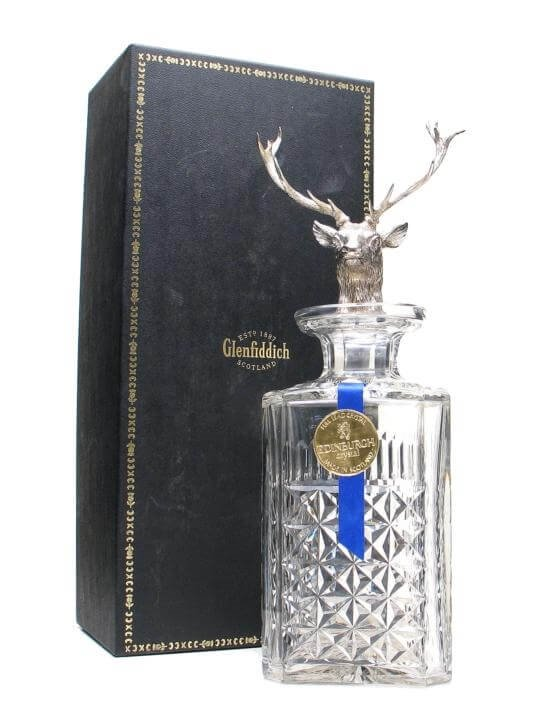 Popular Gifts For Her: Glenfiddich Crystal Silver Stags Head