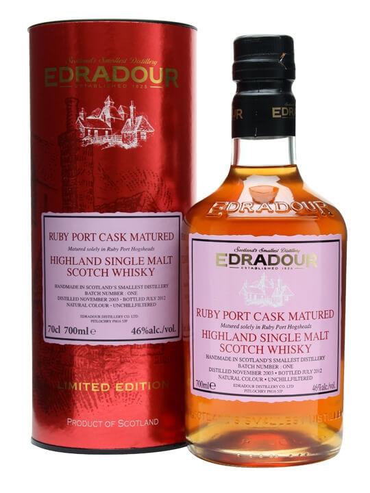 Edradour port cask matured