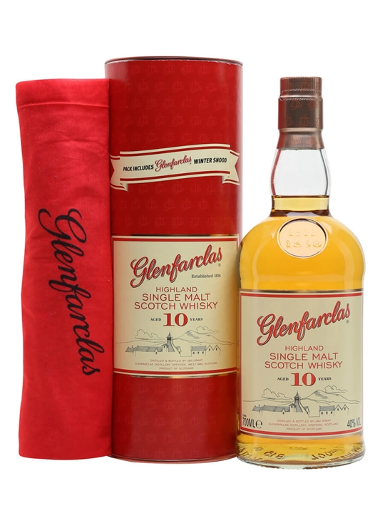 Glenfarclas 10 Year Old Gift Pack with Free Snood