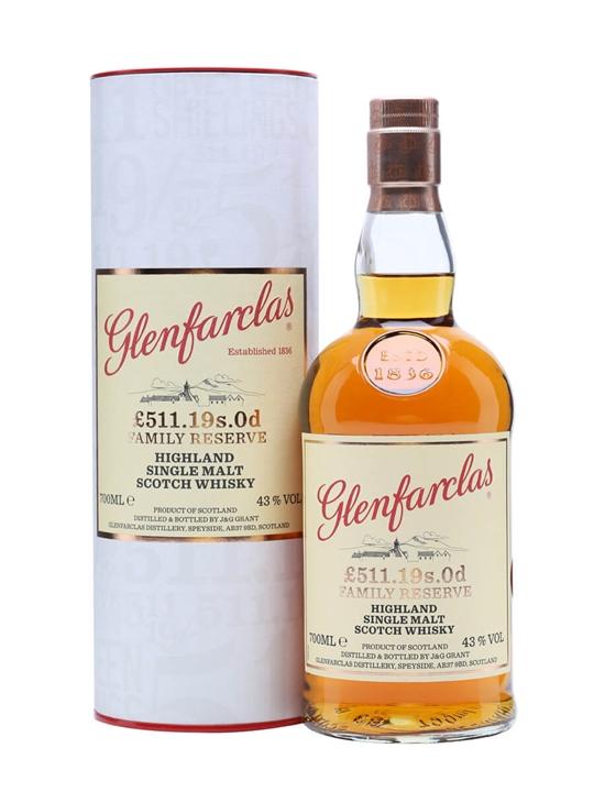 glenfarclas a 511 19s 0d family reserve scotch whisky the whisky exchange