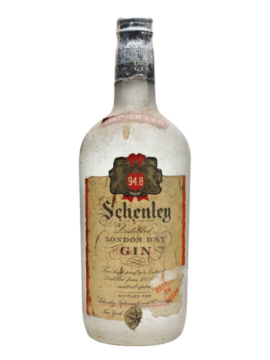 Schenley London Dry Gin Bot 1960s Buy From The Whisky