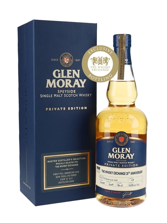 Glen Moray 2008 / Bot.2019 / The Whisky Exchange Exclusive