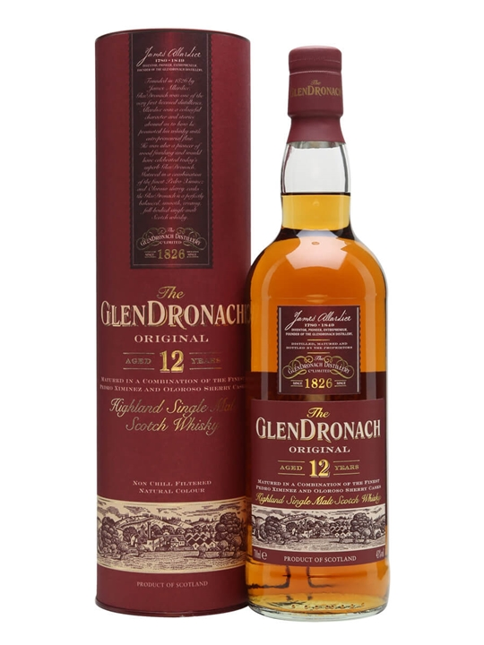 Glendronach 12 Year Old Original Scotch Whisky The