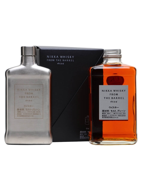 Nikka From The Barrel Hip Flask Set