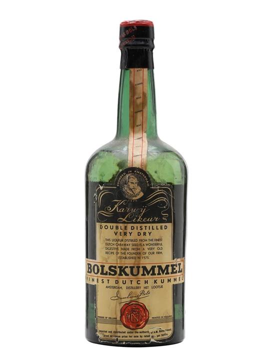 Bols Kummel Bot 1950s The Whisky Exchange