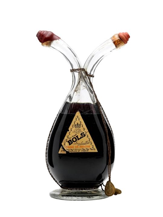 Bols Liqueur 2 Compartment Bottle Bot 1950s The