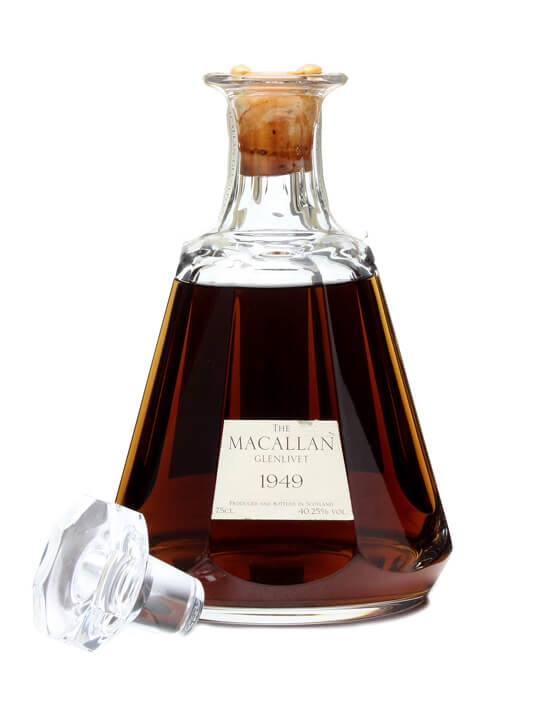 Macallan 1949 Crystal Decanter Scotch Whisky The
