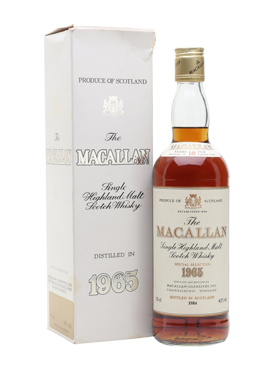 50 Year Old Whiskey >> Macallan 1965 - 18 Year Old - Vintage Label Scotch Whisky ...