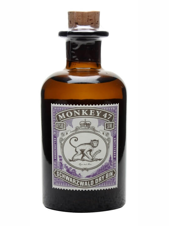 monkey 47 schwarzwald dry gin 5cl miniature the whisky. Black Bedroom Furniture Sets. Home Design Ideas