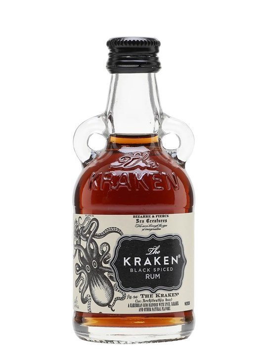 Kraken black spiced rum miniature the whisky exchange - Kraken rum pictures ...