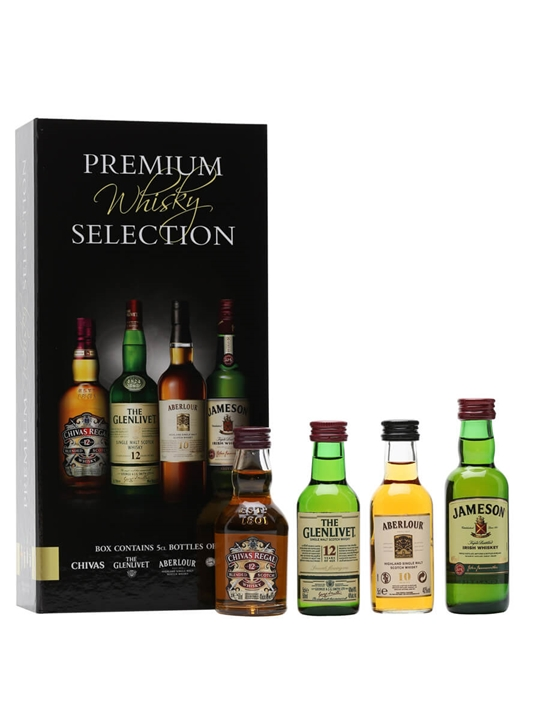 Premium Whisky Selection Miniature Set 4x5cl The
